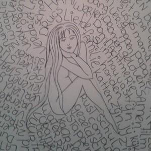 Nicky met ADD beeld haar leven uit in een tekening