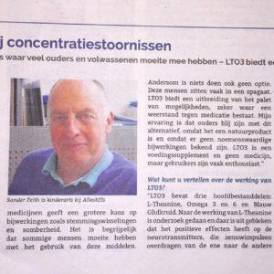 Interview met kinderarts Sander Feith over LTO3 - LTO3 biedt een natuurlijk alternatief voor concentratiestoornissen